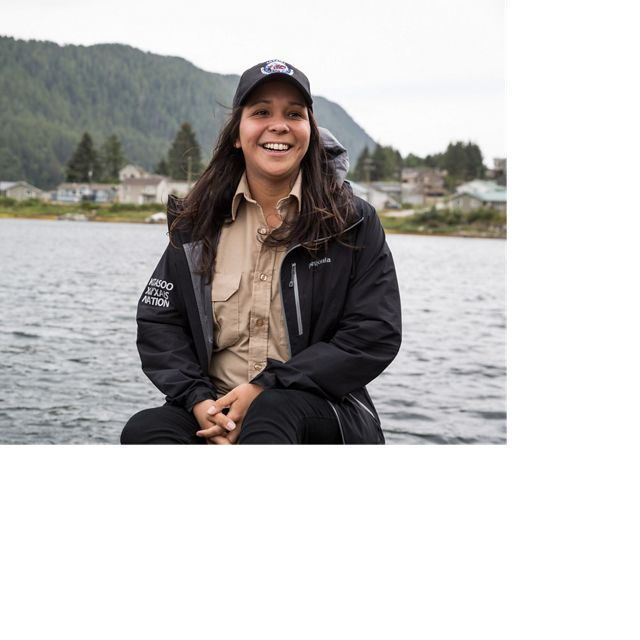 Kitasoo Coastal Guardian Watchmen member and former SEAS Intern, Chantal Pronteau.