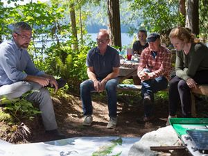 Program Director Eric Delvin leads a team of staff and partners in Desolation Sound, BC.