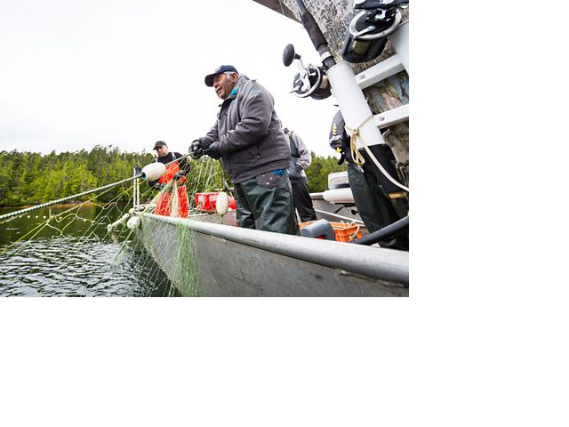 Ernest (Charlie) Mason, a hereditary chief in the Kitasoo/Xai'Xais Nation, is also a fisherman. He works as a boat operator and a bear guide for the Spirit Bear Lodge.