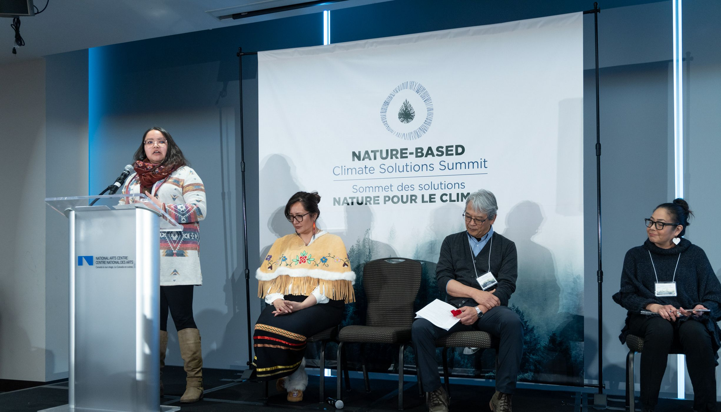 Diandra Bruised Head spoke on a panel about examples of Indigenous-led nature-based climate solutions.