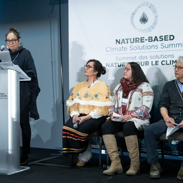Danika Littlechild led a panel on Indigenous-led climate solutions in action across Canada.