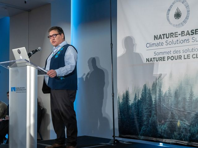 Steven Nitah of the Łutsel K'e Dene First Nation speaks on the importance of incorporating Indigenous stewardship into climate solutions.