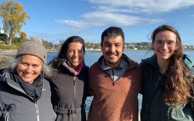 Claire Hutton, Jonaki Bhattacharyya, Jimmy Morgan and Claire Menendez are part of a team to offer flexible, remote support for Indigenous Guardian programs in Canada.