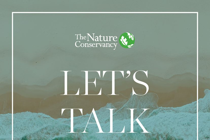 """The cover of e-book, """"Let's Talk Climate,"""" showing an iceberg."""