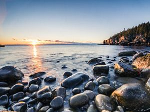 Dawn at Acadia National Park, Maine.
