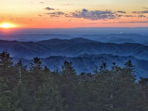 in Great Smoky Mountains National Park is the highest point in Tennessee.