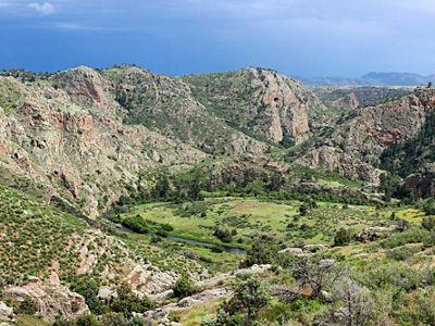A lanscape shot of Phantom Canyon in Colorado.