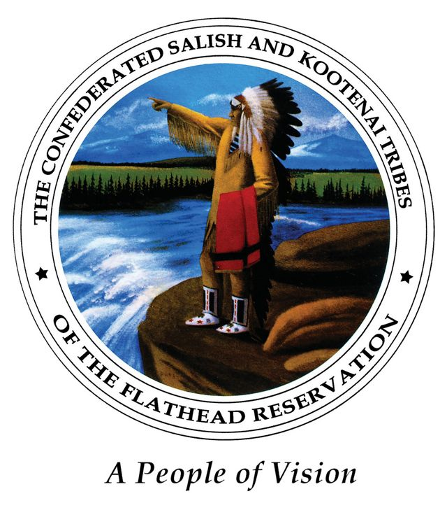Confederated Salish and Kootenia Tribes of the Flathead Reservation logo.