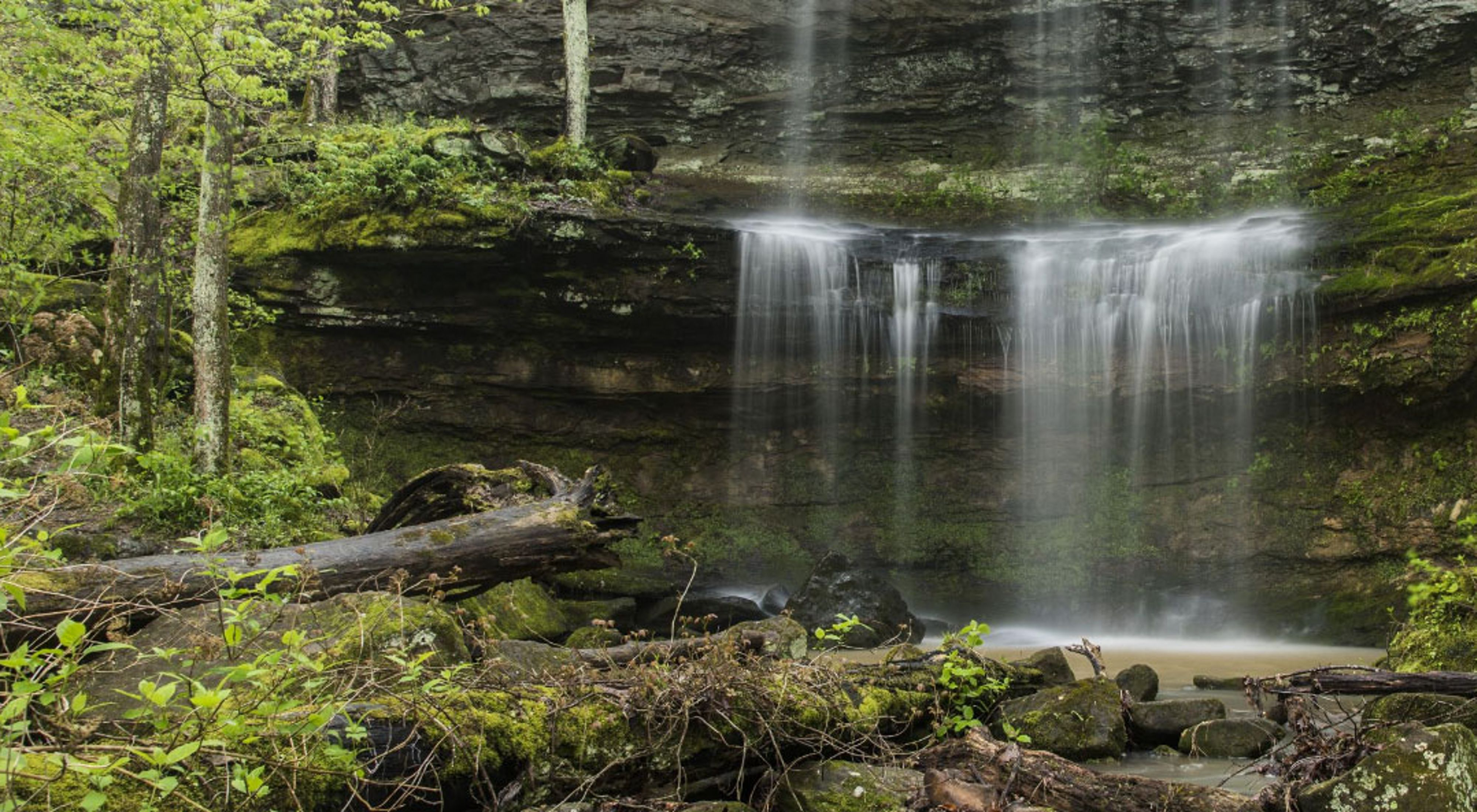 Waterfall at Crab Orchard National Wildlife Refuge.