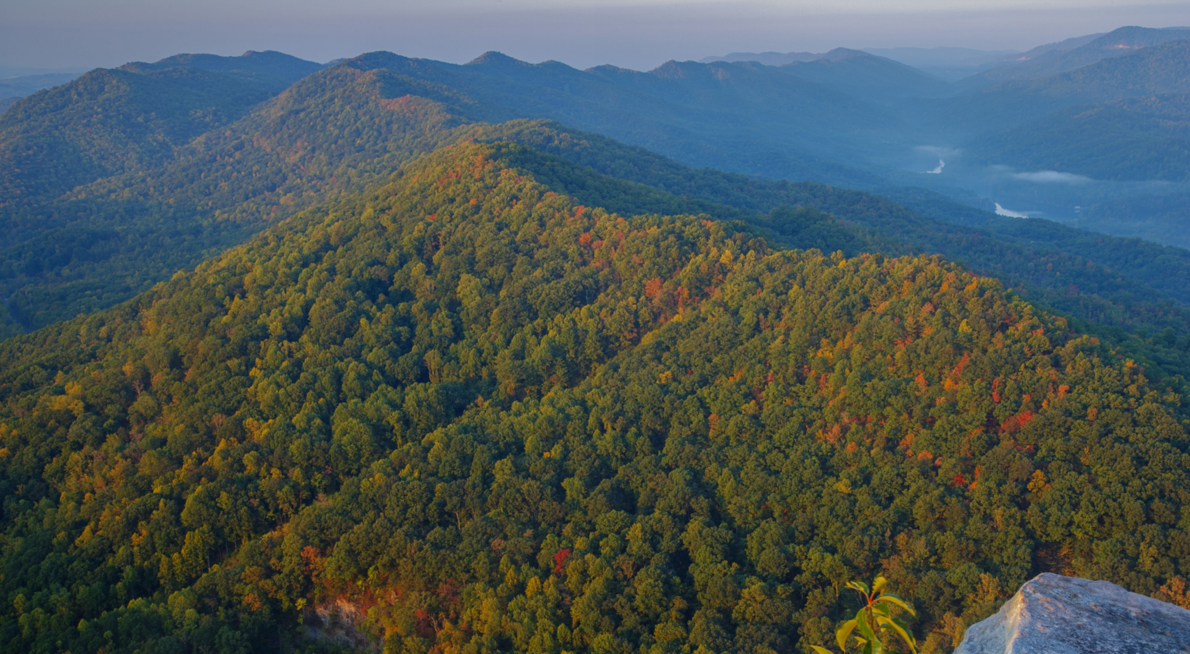 tract and Cumberland Mountains from Cumberland Gap National Historic Park in Tennessee.