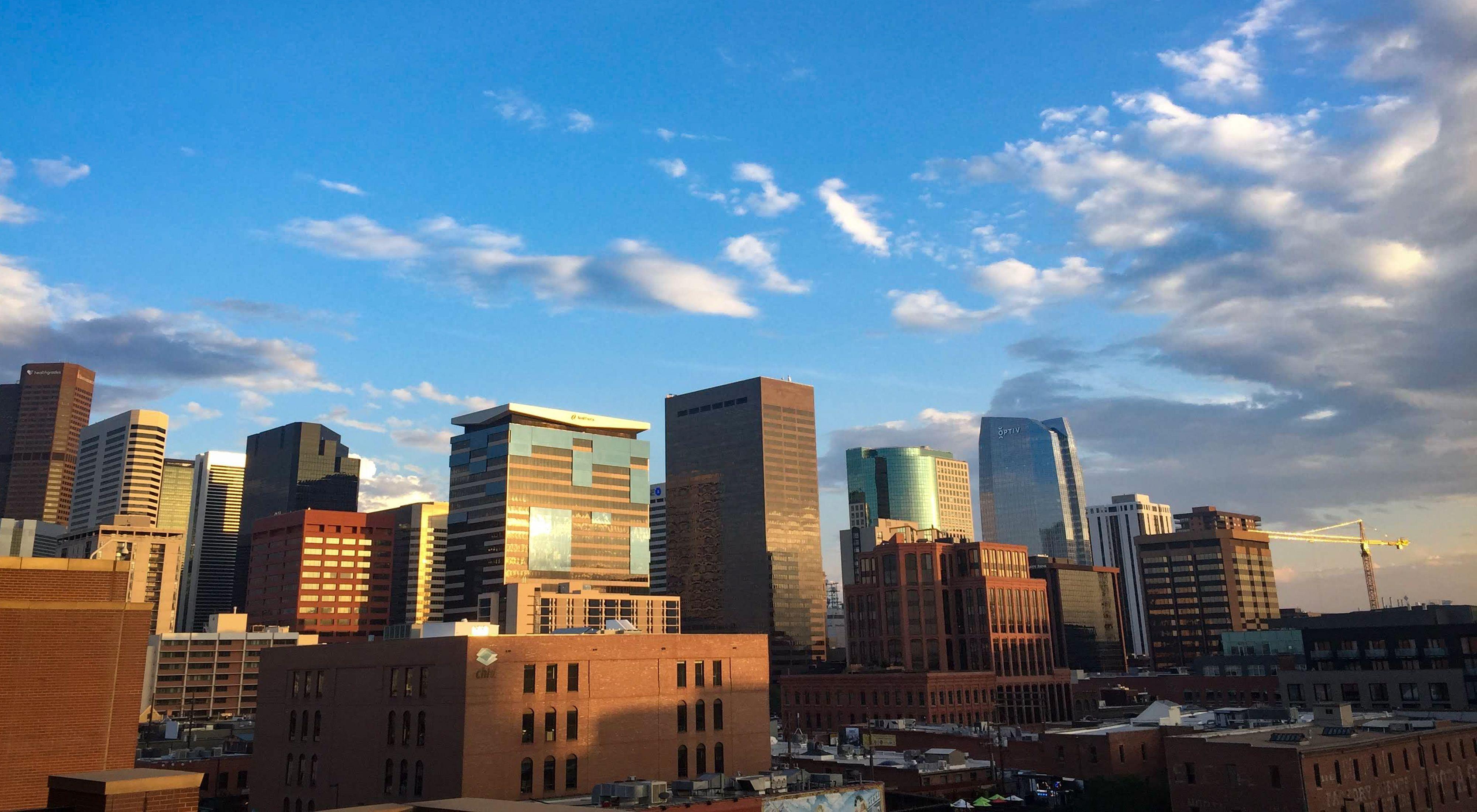 Denver skyline.
