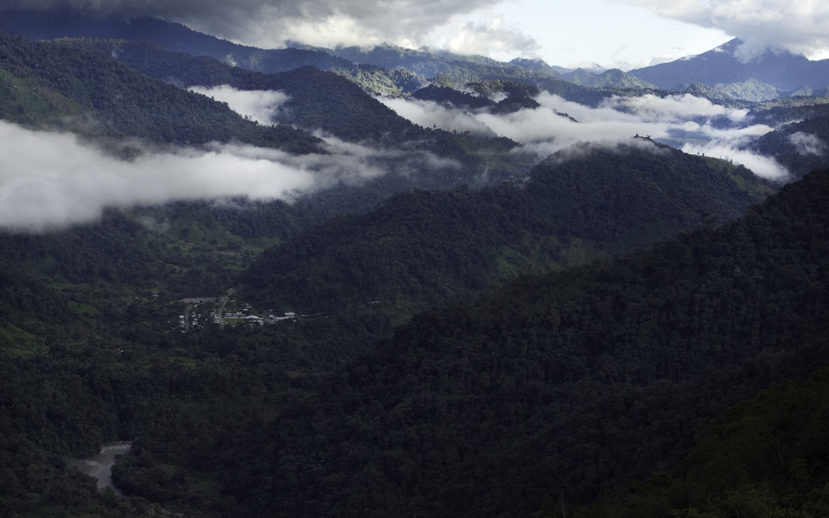 a view of the tropical Andes region