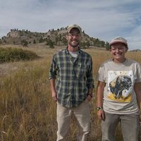 Dillon Blankenship and Jasmine Cutter, pictured at Nebraska's Wildcat Hills, south of Gering, Nebraska.