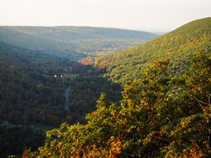 A view of the Finger Lakes region in New York.
