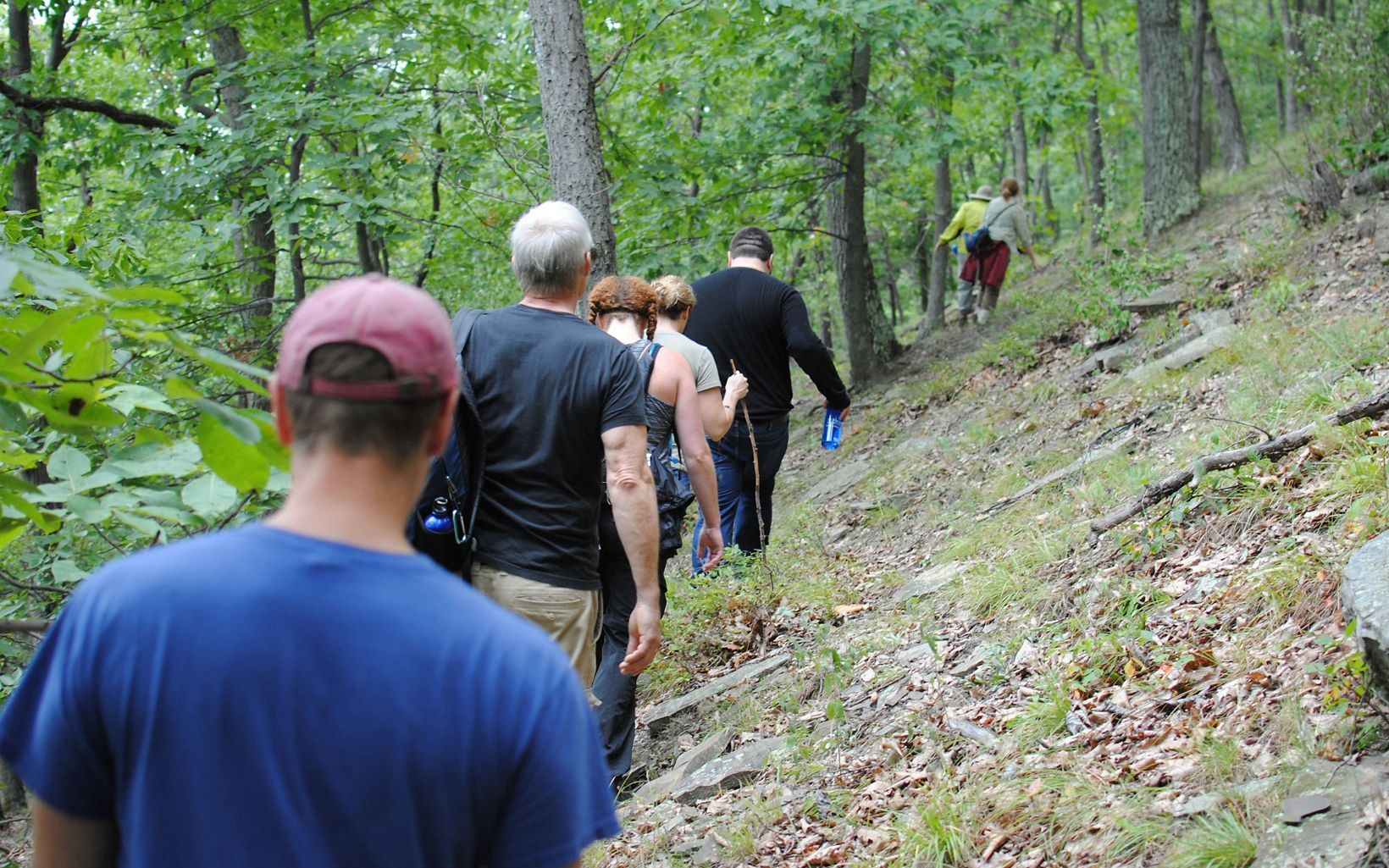 Nature Conservancy in New York team goes for a hike