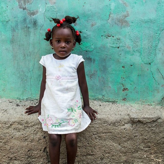 A girl from the town of Caracol, Haiti