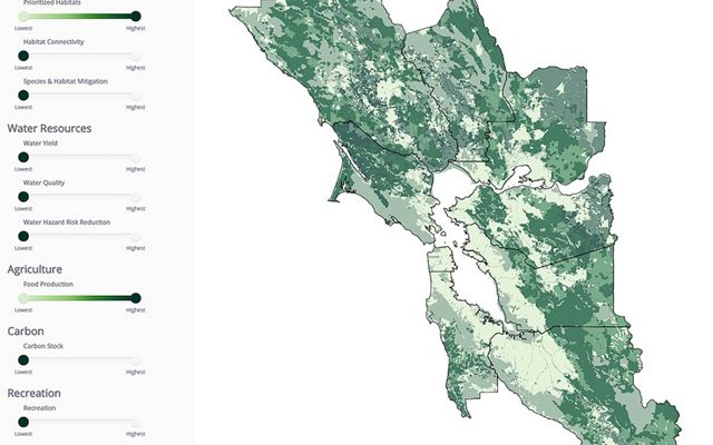 Bay Area Greenprint Map