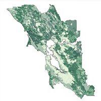 Bay Area Greenprint map