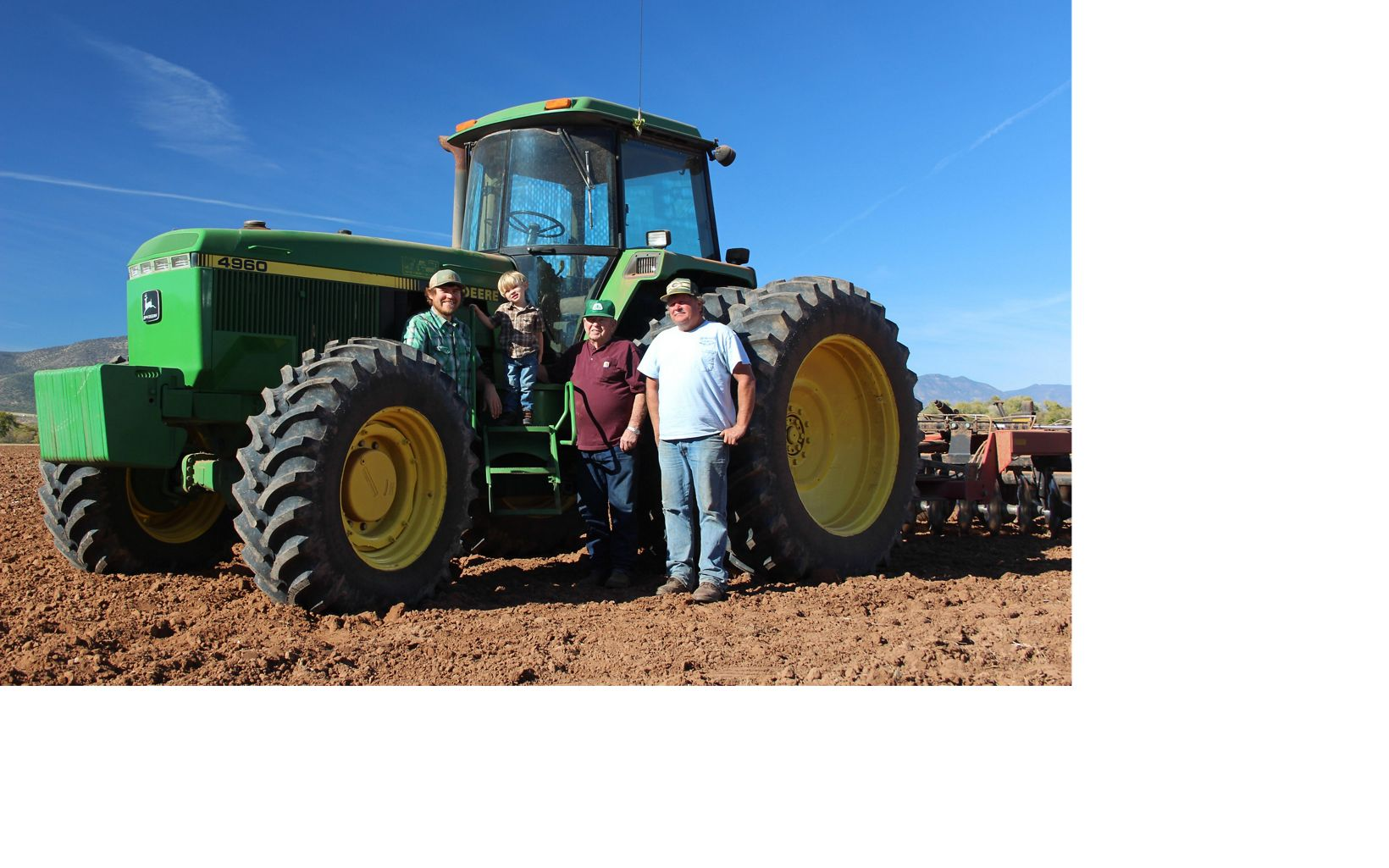 The Hauser family is growing barley and working with TNC on low-water irrigation and crops management in Arizona.