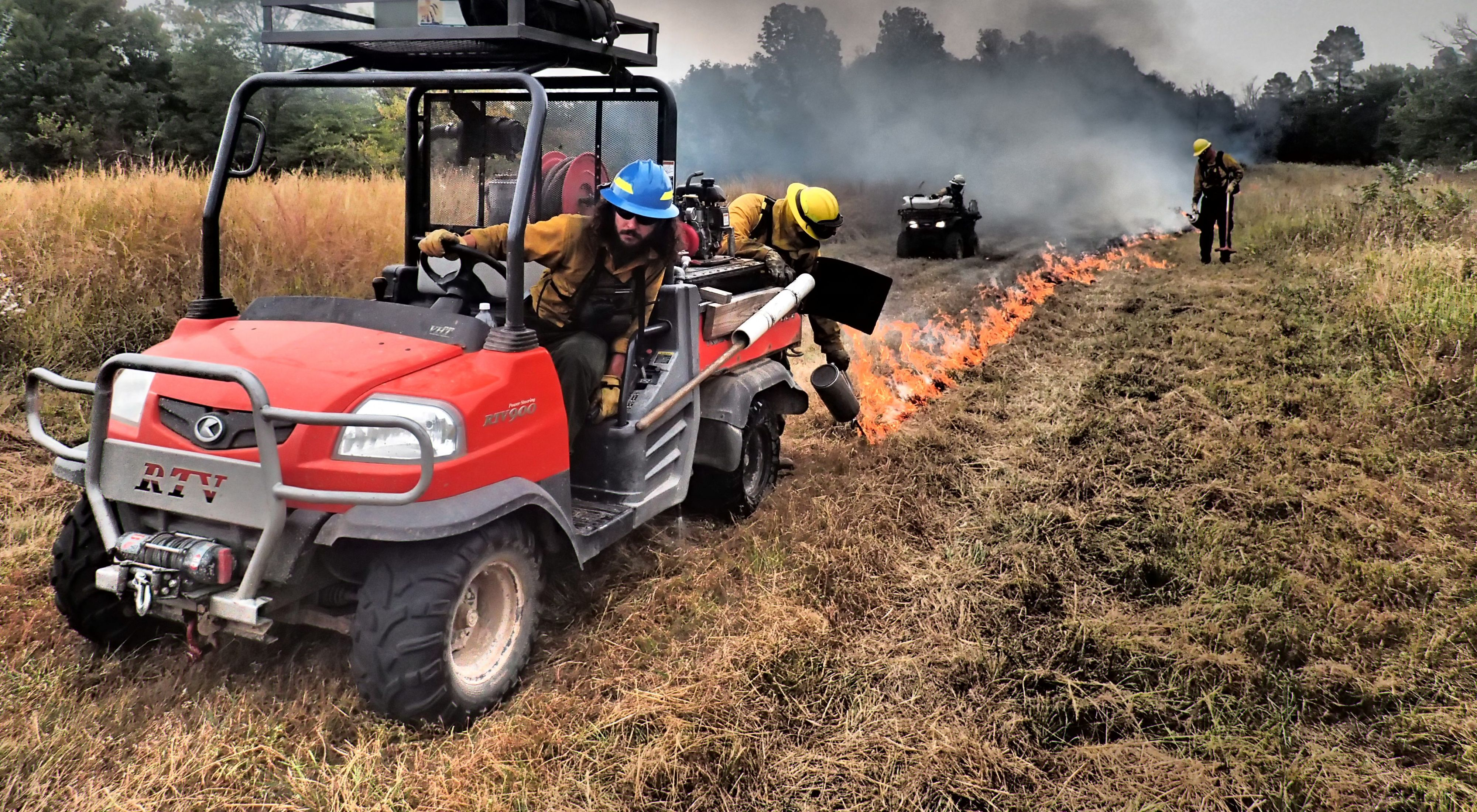 Clint and crew prescribed fire