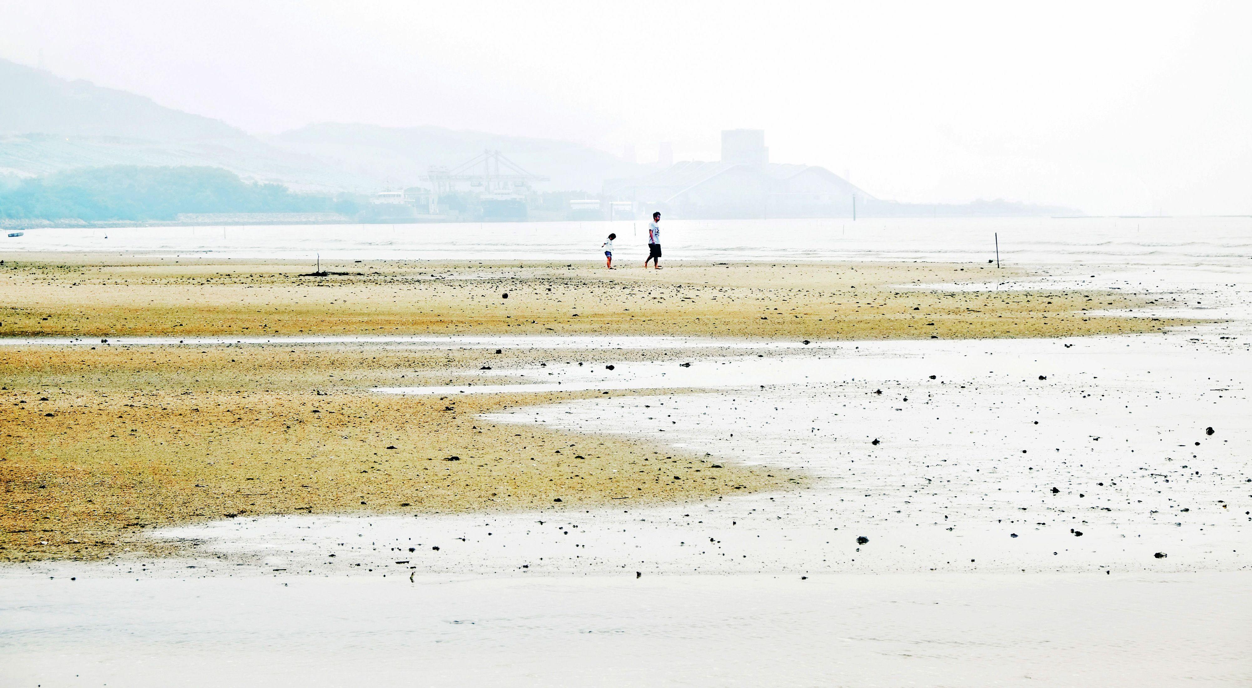 香港白泥的泥灘