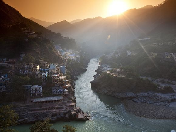 Start of the Ganges River in India