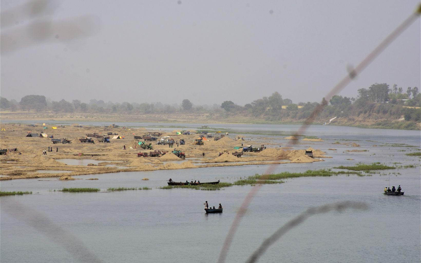 on River Narmada side banks