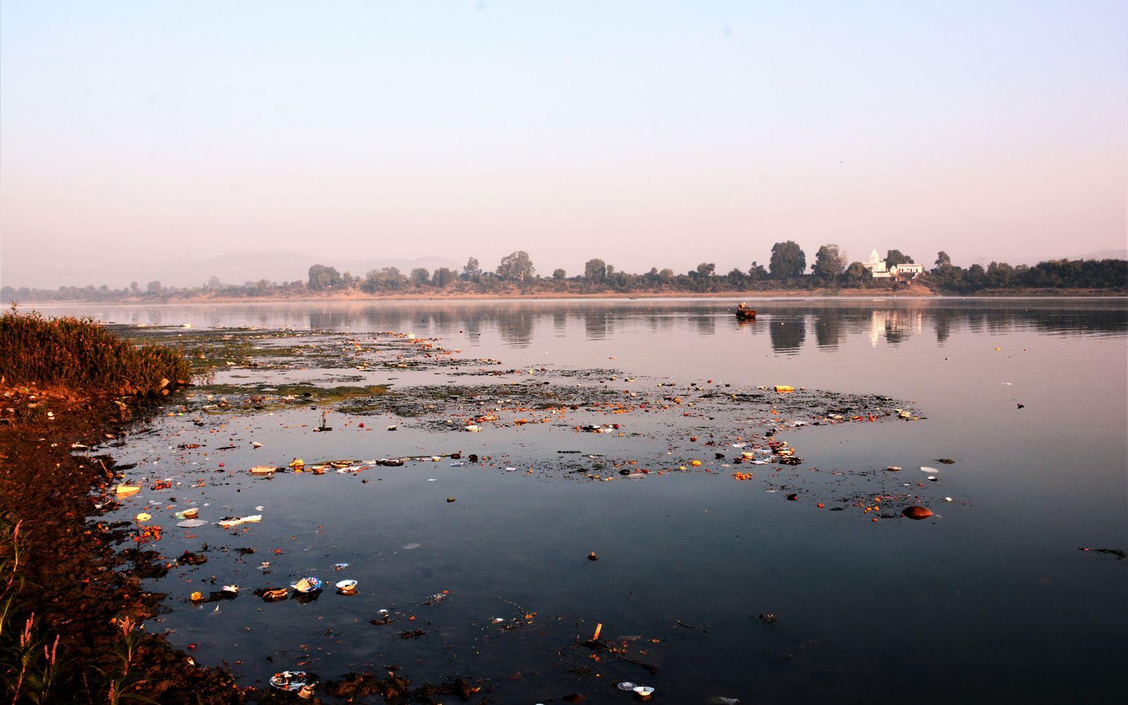 thrown into River Narmada