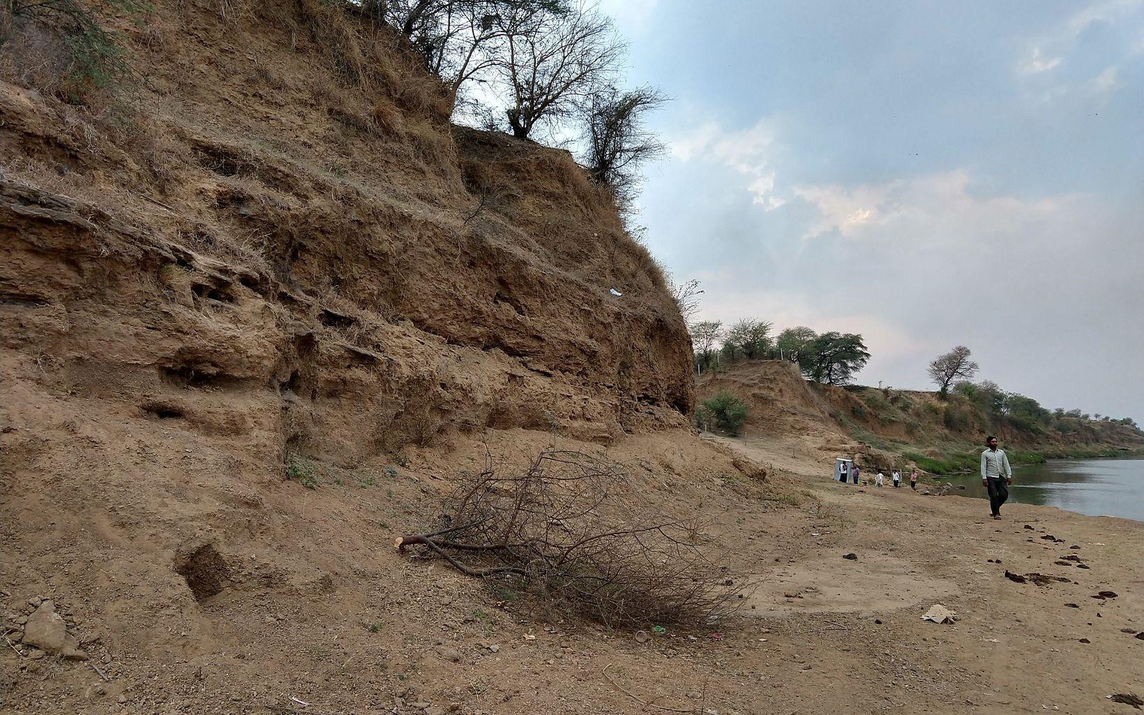 on the banks of River Narmada