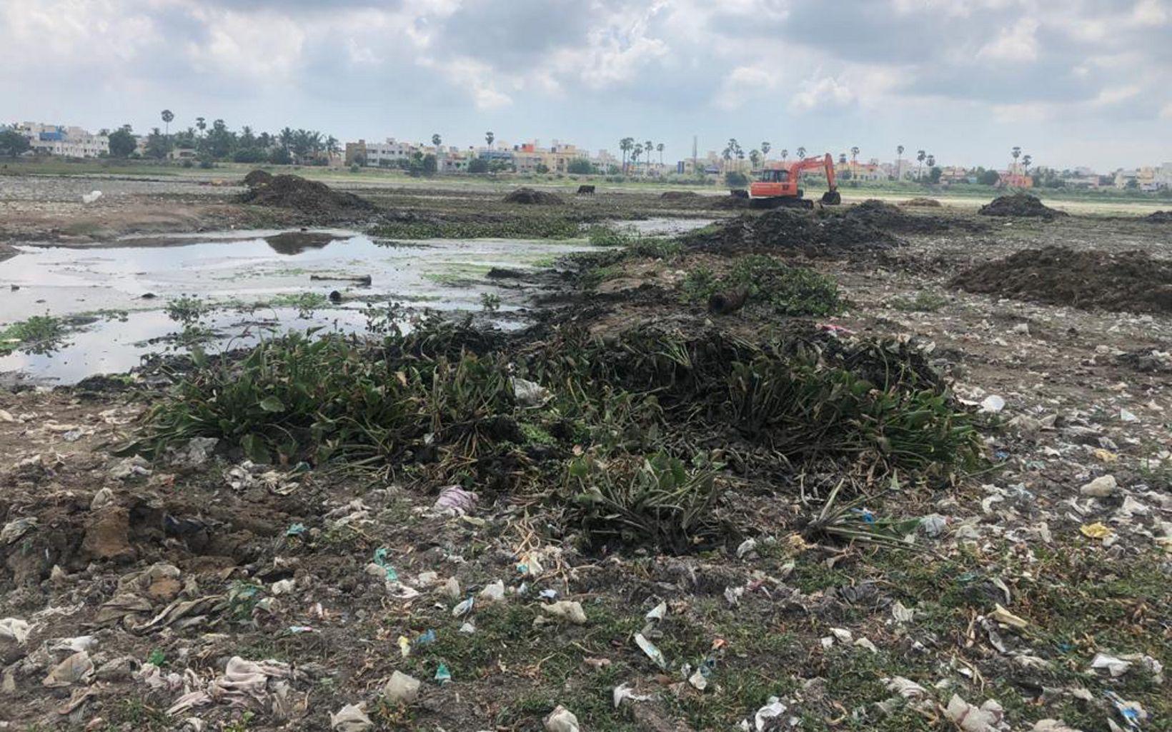 accumulated at Lake Sembakkam