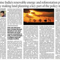 Optimise India's energy and reforestation projects