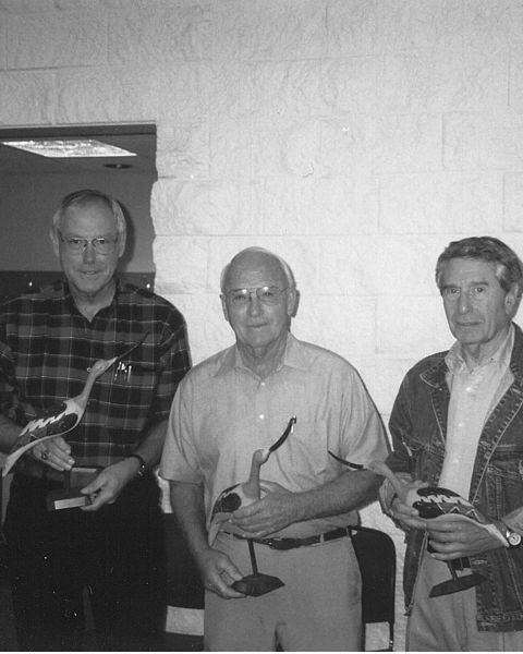 John Strickler, Wayne Lebsack and Kenny Baum are founding members of the Kansas board of trustees. Pictured here in 1999.
