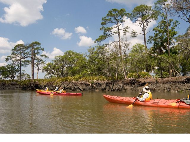 Legacy Club members paddling at St. Simons Island.