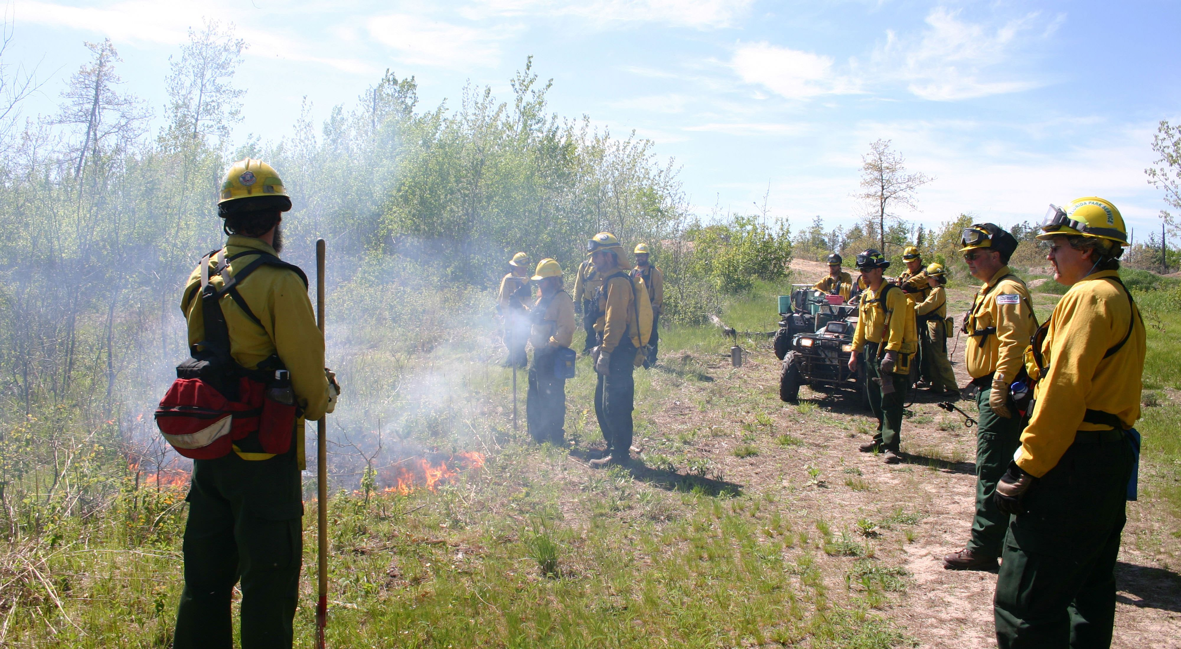 Lake Alexander prescribed burn