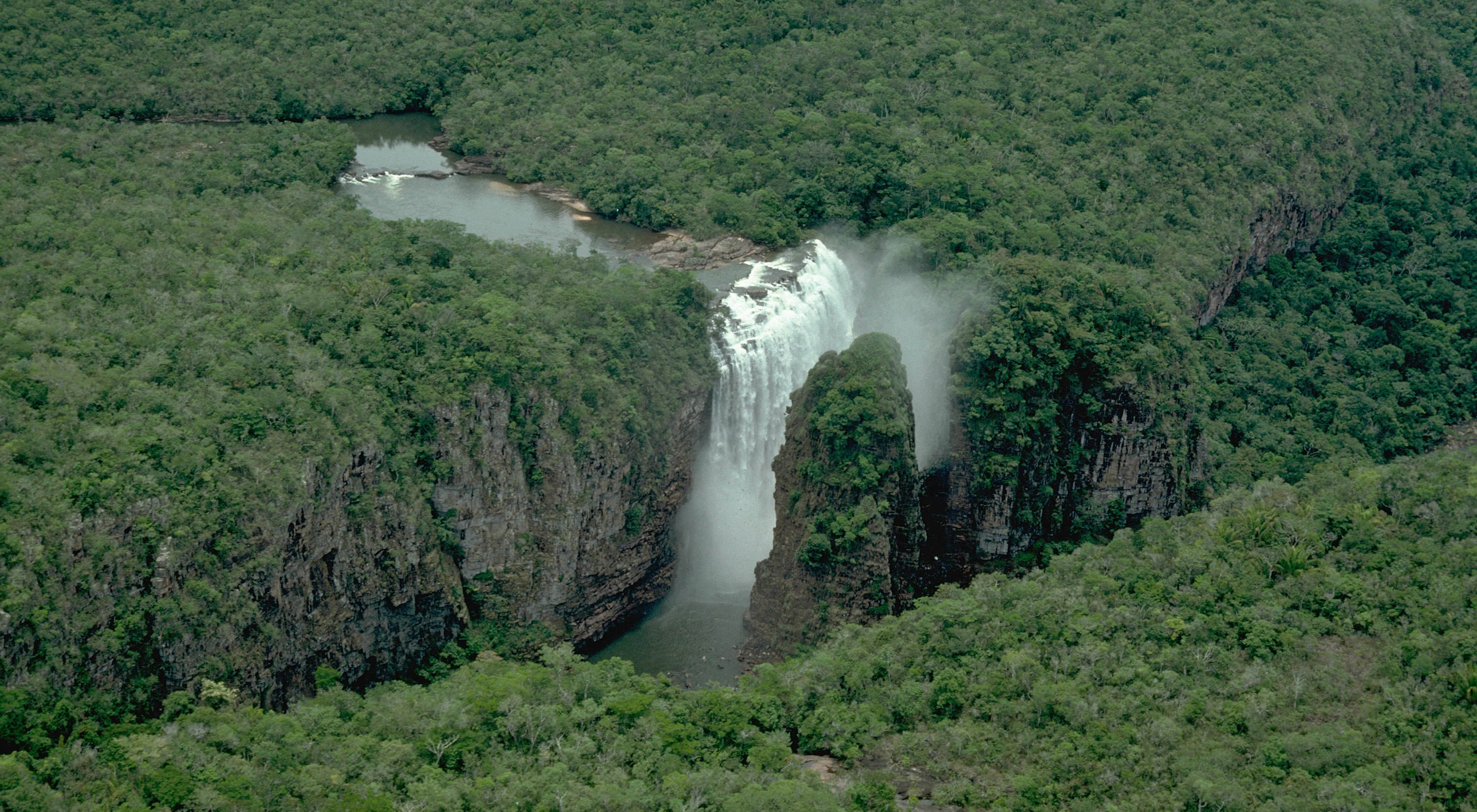 Waterfall in Noel Kempff National Park in Bolivia, South America.