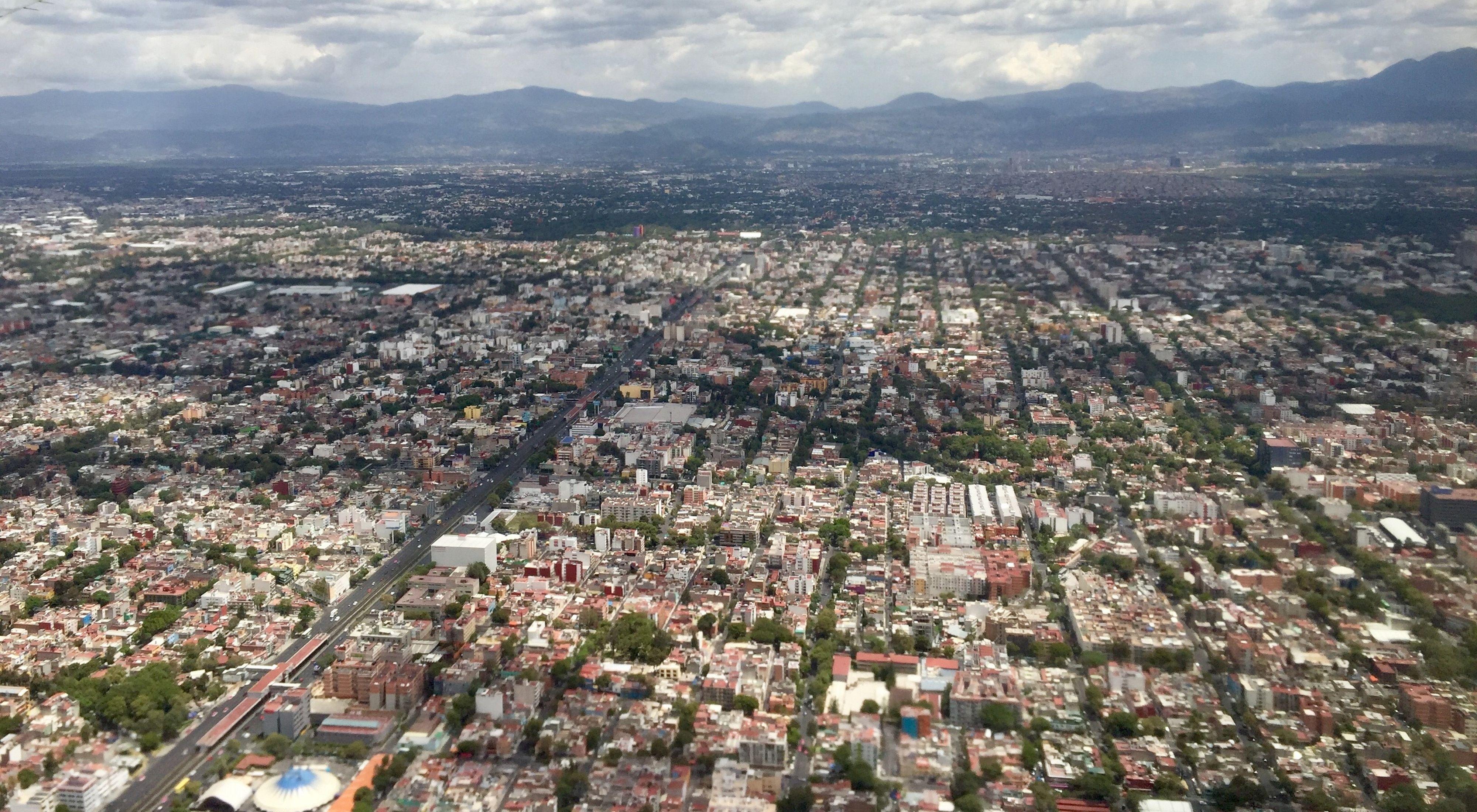 Vista área de la ciudad de México