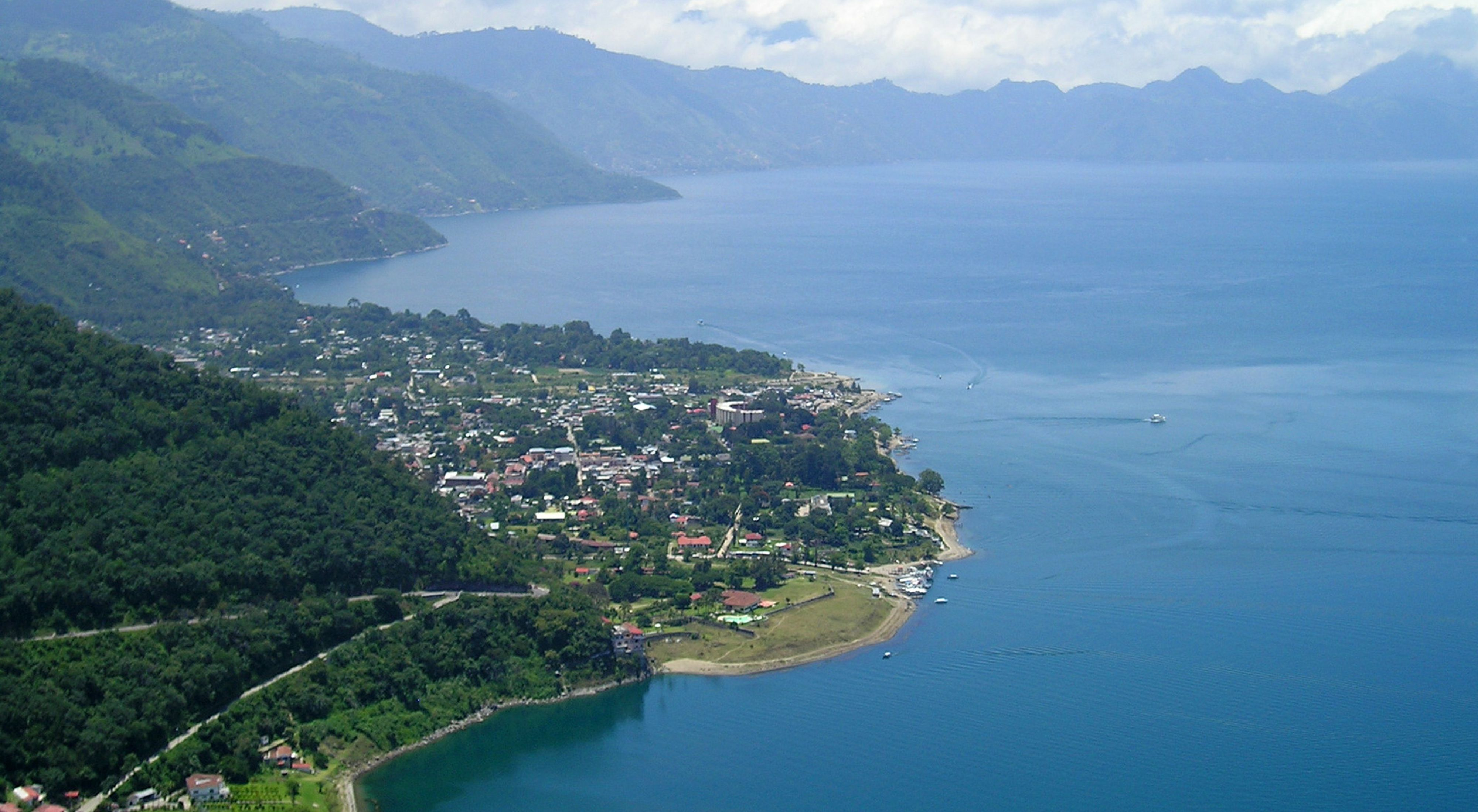Vista aérea de la costa de Guatemala