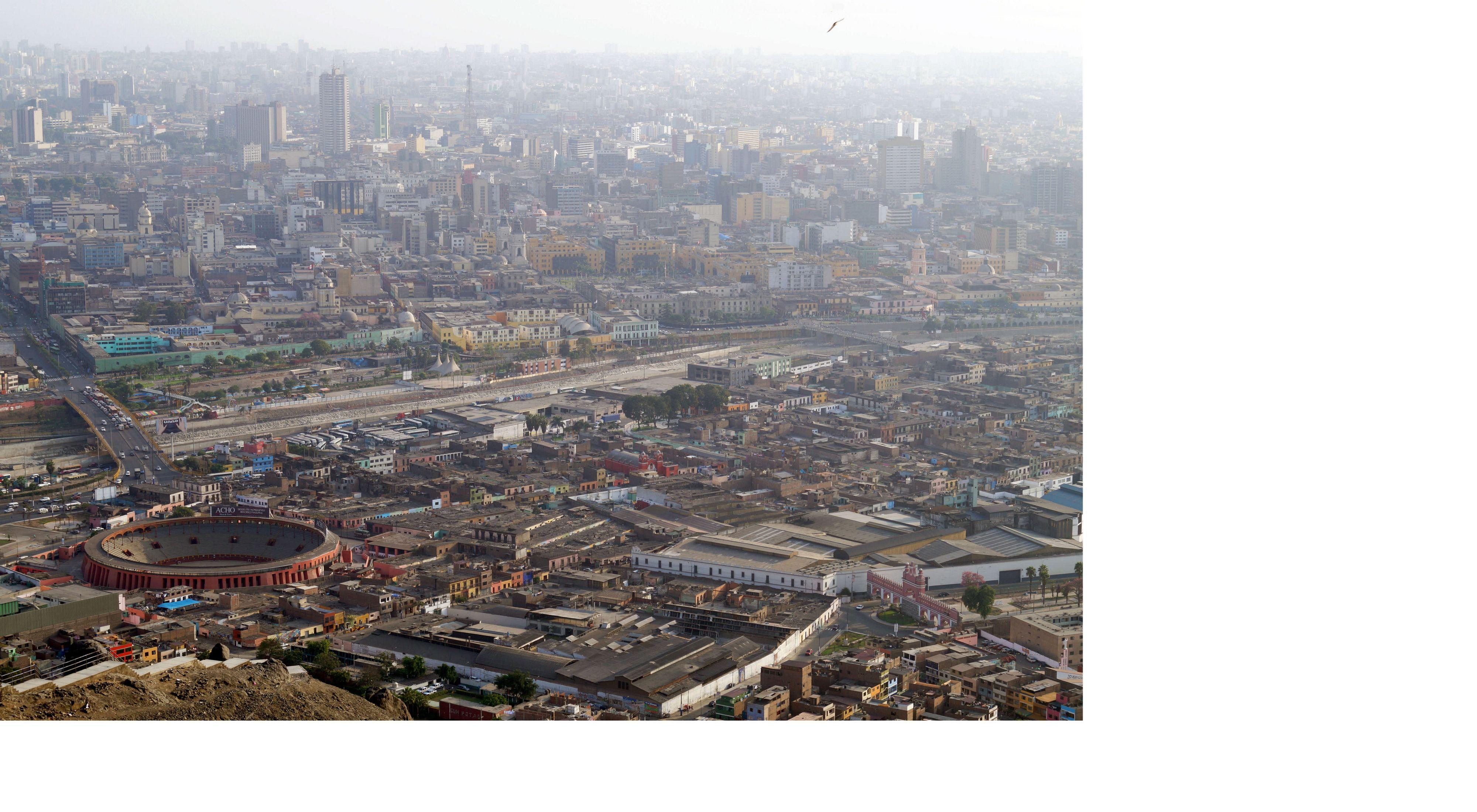 Vist aérea de Lima, Perú