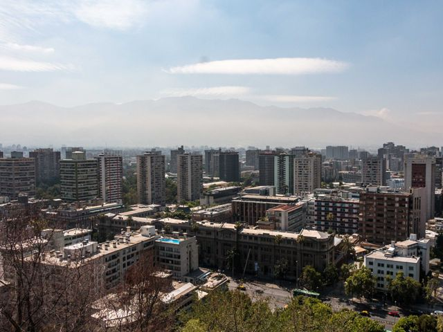 Vista del centro de Santiago de Chile