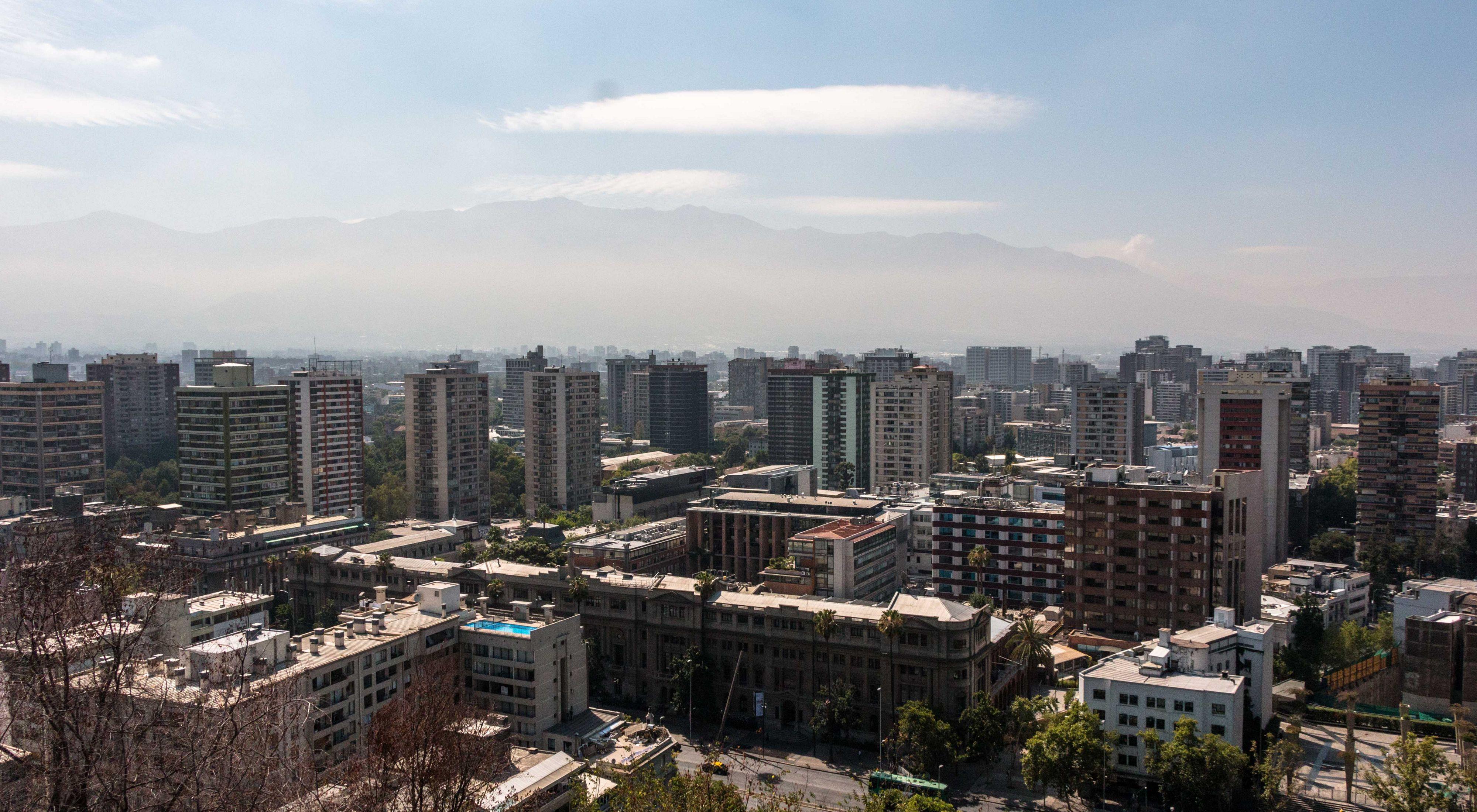 Atardecer en Santiago, Chile