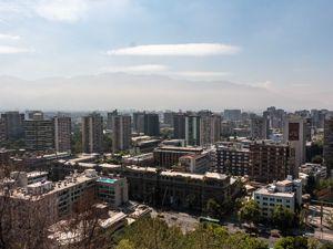 Vista desde el centro de Santiago de chile