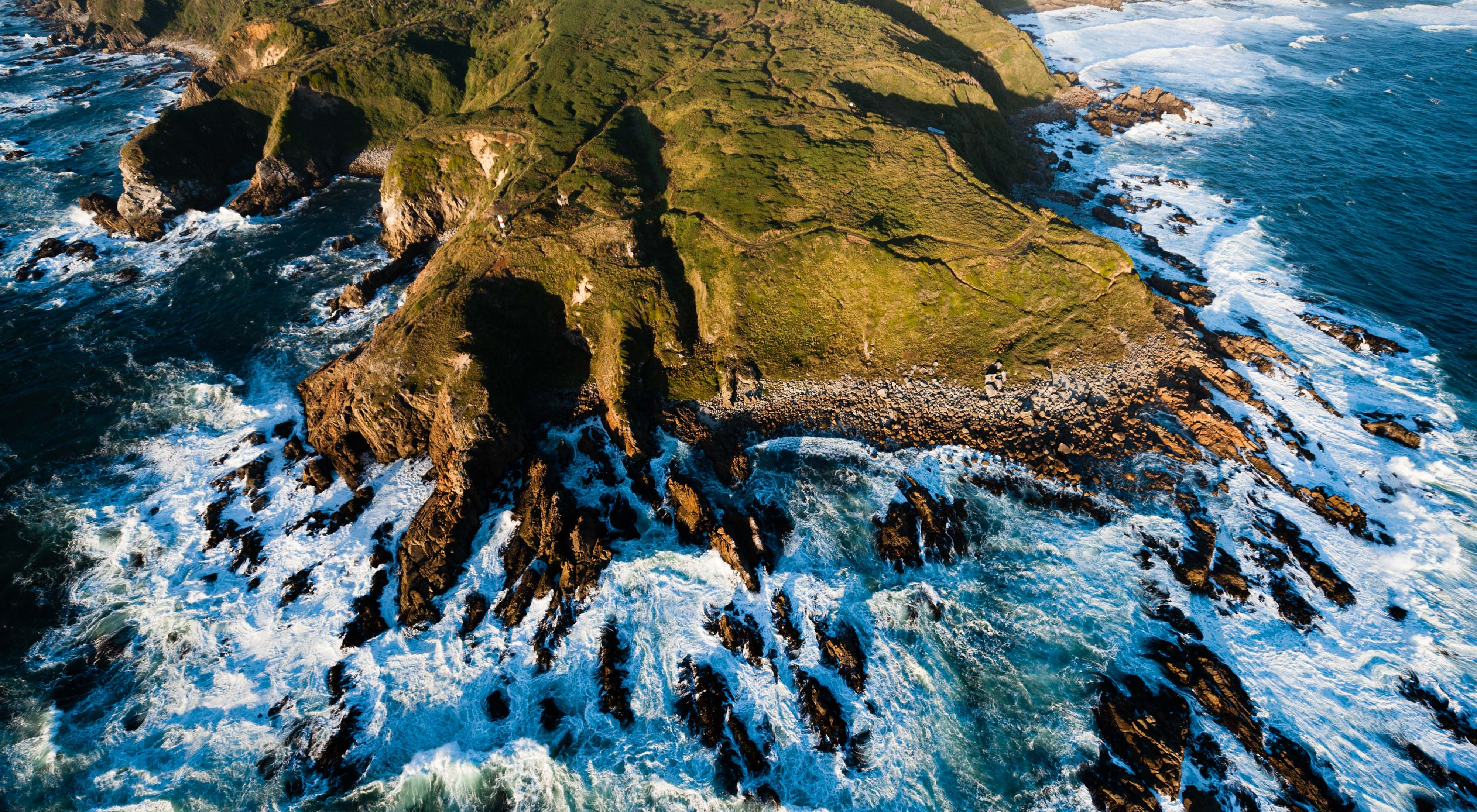 An aerial view of Colun Beach in the Valdivian Coastal Reserve, Los Rios, Chile. Photo credit: ©2012 Nick Hall