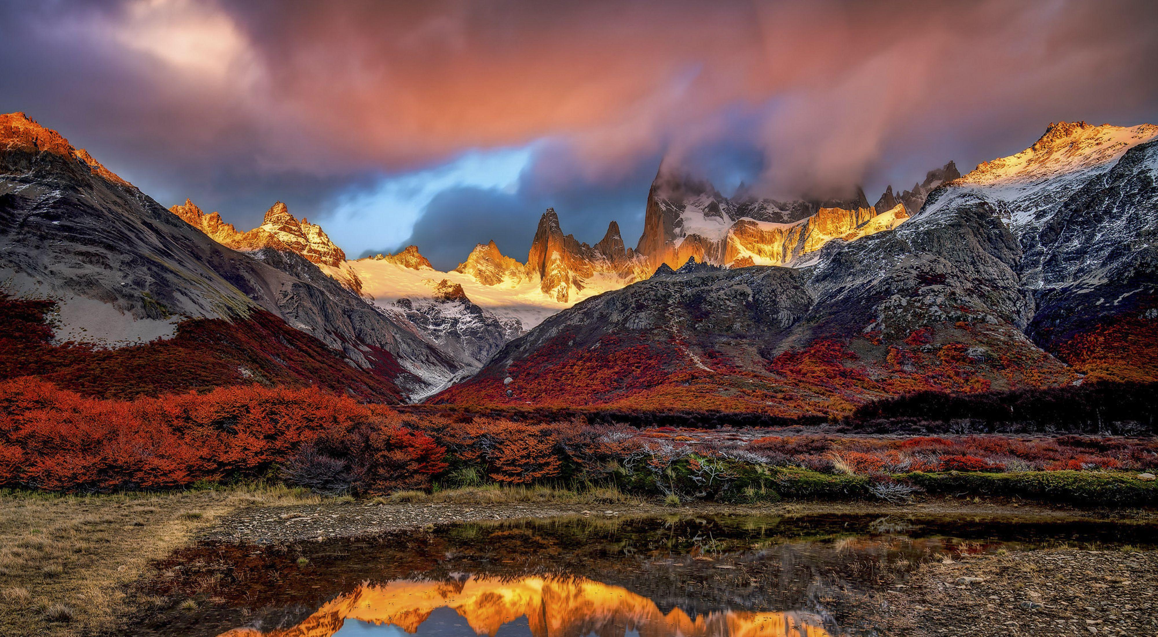 Un hermoso paisaje en la Patagonia, Argentina