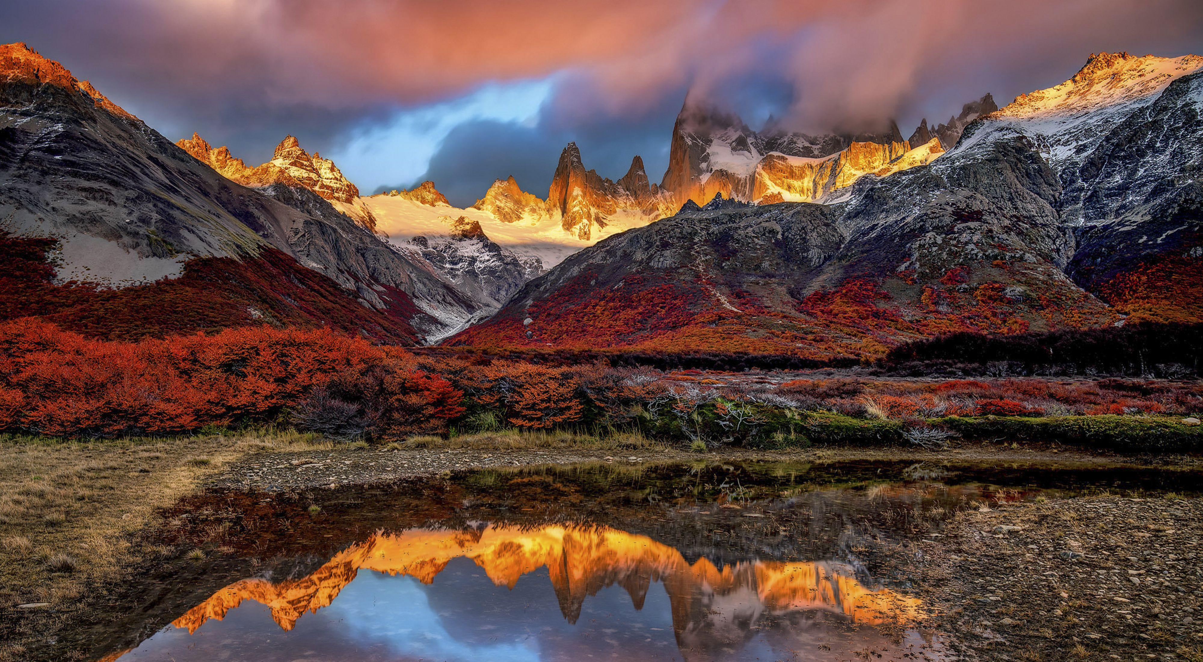 Atardecer en el sur de Argentina