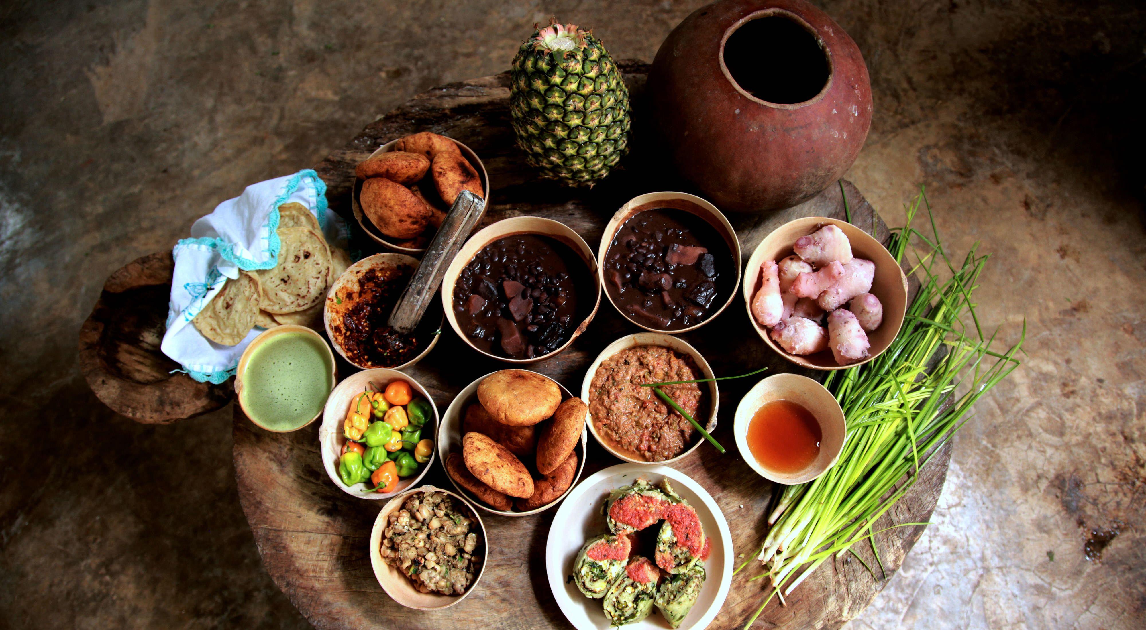 Comida tradicional de la Selva Maya
