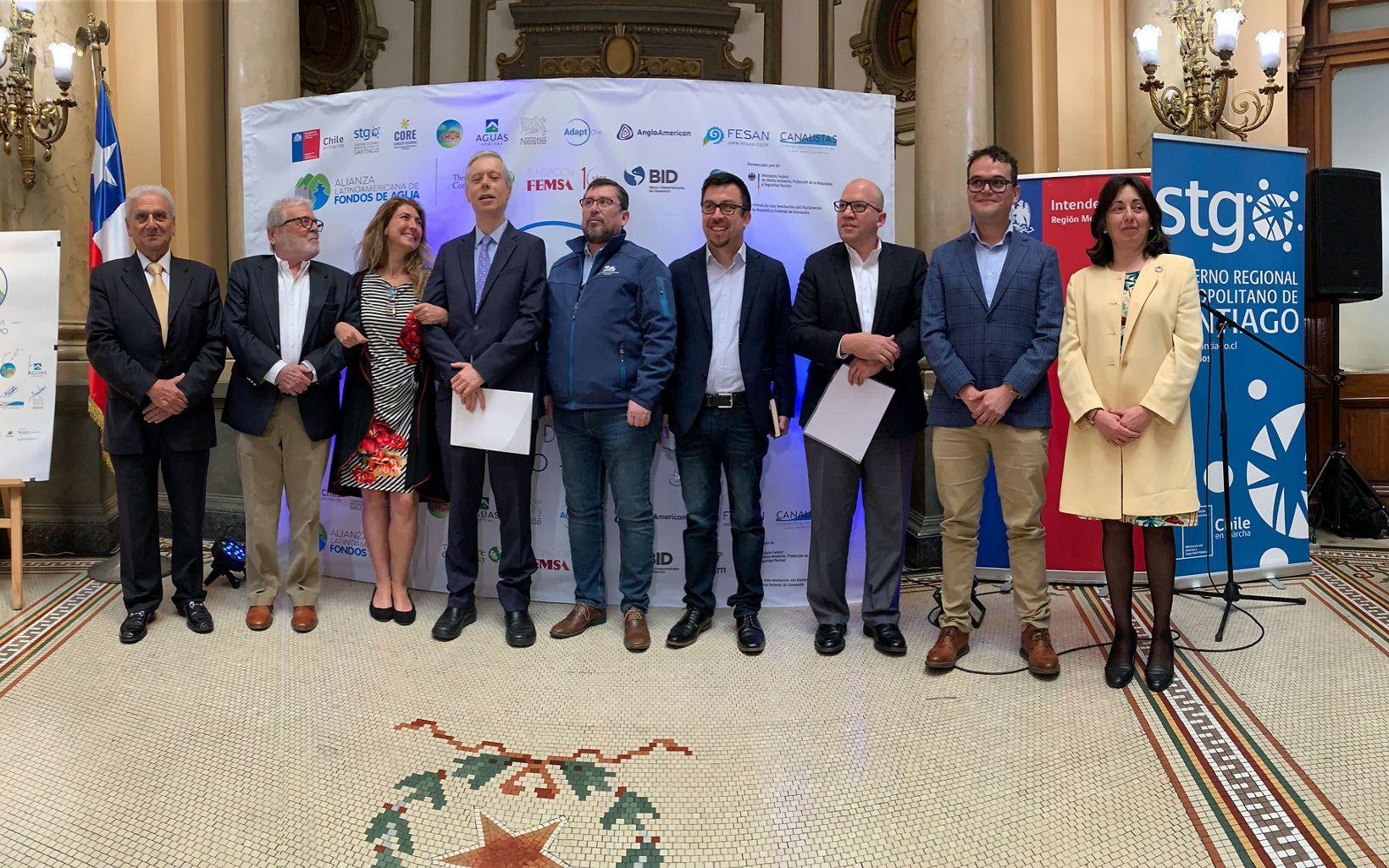 Lanzamiento del Fondo de Agua Santiago-Maipo, primer fondo creado en Chile.