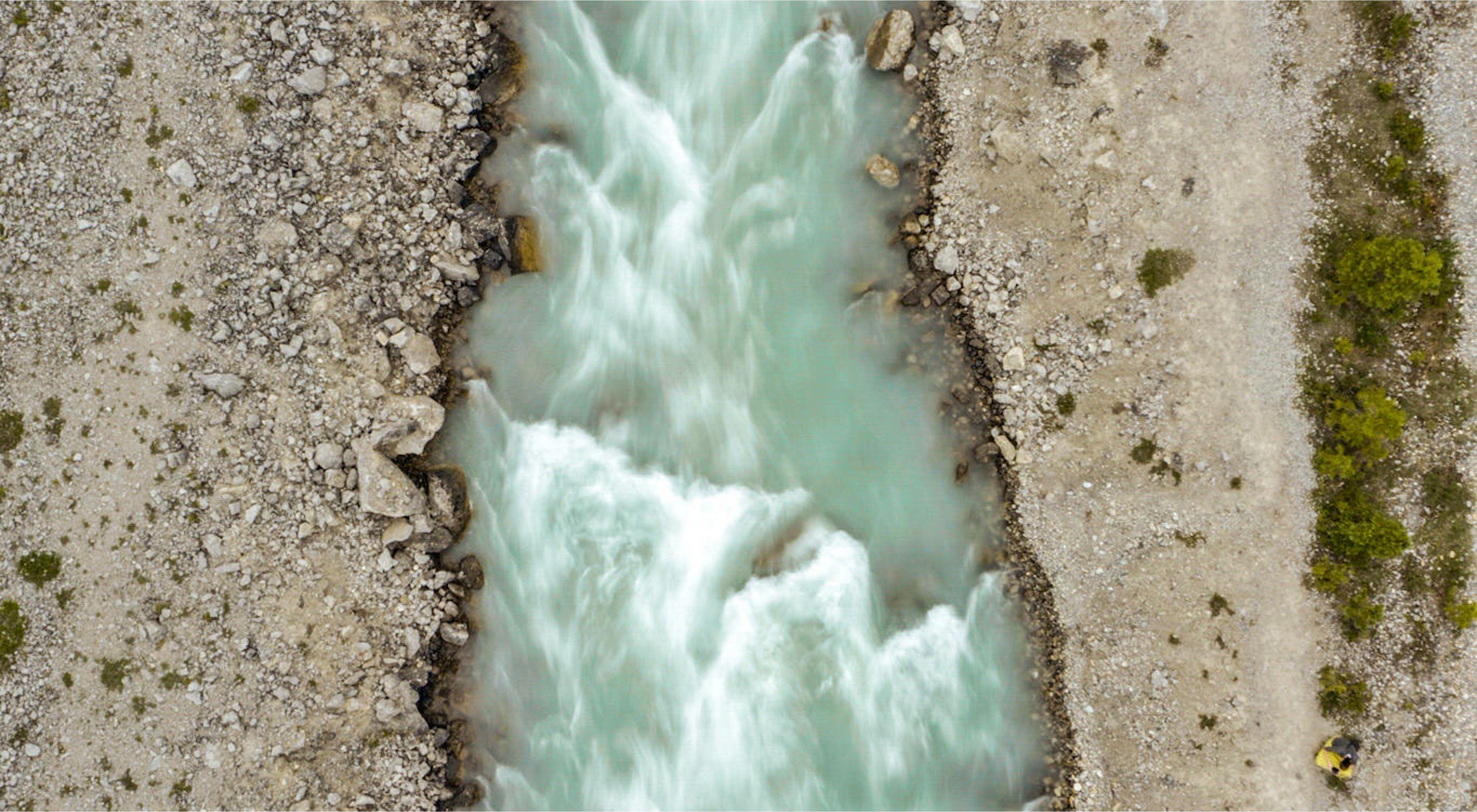 Glacier runoff near Golden