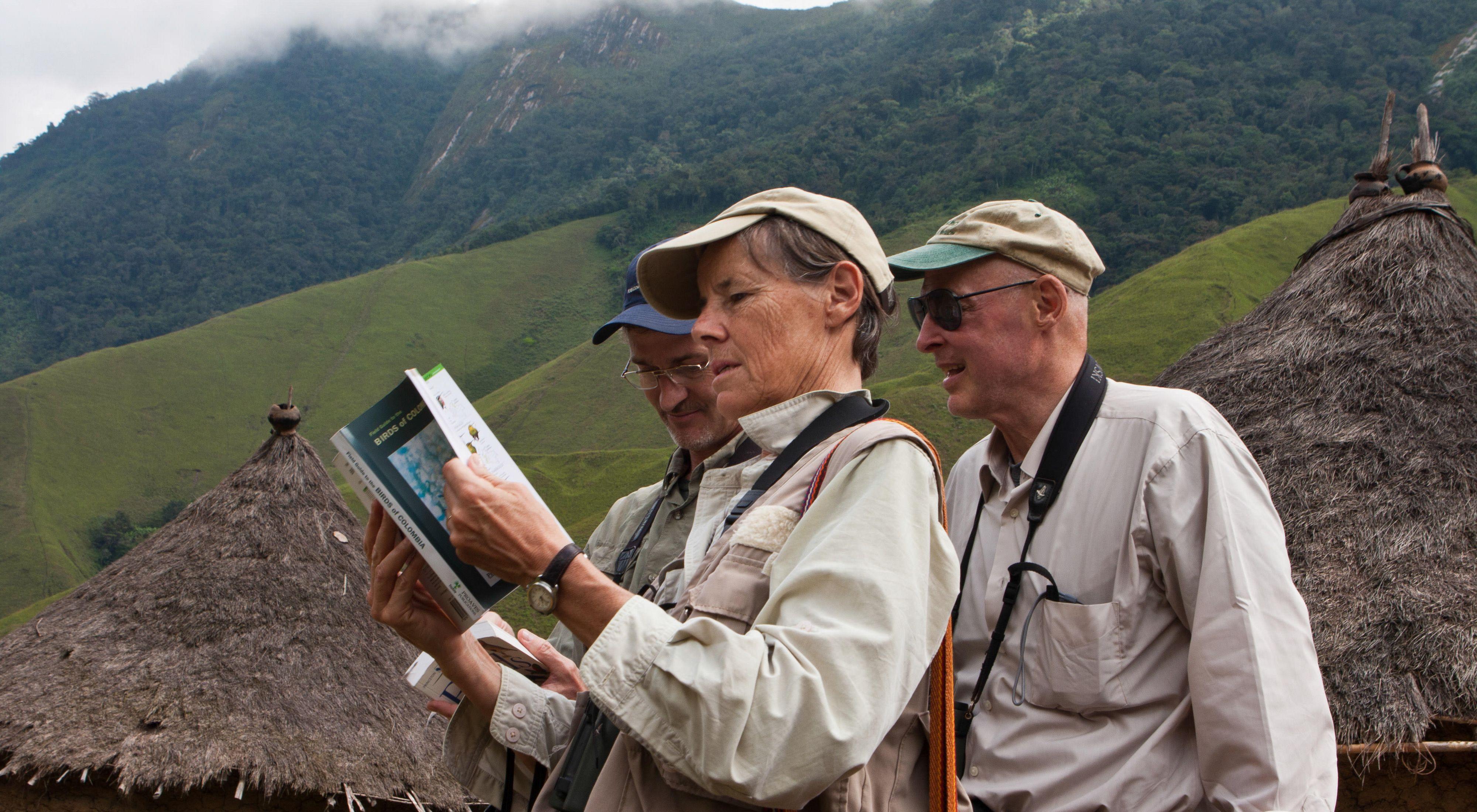 miran las aves de la Sierra Nevada de Santa Marta.