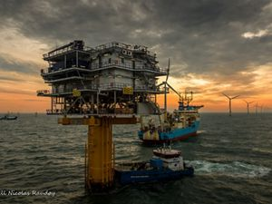 off the coast of the Netherlands.