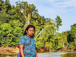 El cacique del RI El Diamante es actual promotor del trabajo del proyecto de gobierno propio, y su mayor preocupación es la seguridad alimentaria de las comunidades indígenas.